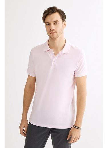 Avva Erkek  Polo Yakalı Düz Tişört A01B1146 Pembe